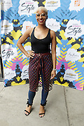 13 September-Brooklyn, New York:  Dana Blair, Essence Live< Host attends the Essence Street Style Block Party held at The Dumbo Archway Under the Manhattan Bridge on September 13, 2015 in the DUMBO section of Brooklyn, New York.   (Photo by Terrence Jennings/terrencejennings.com)