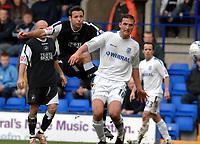 Photo: Paul Greenwood.<br />Tranmere Rovers v Swansea City. Coca Cola League 1. 10/03/2007.<br />Swansea's Pawel Abbott (L) bends his shot around Chris McReady