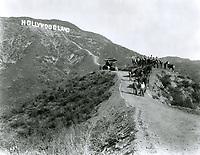 December 1923 Dedication of the Hollywoodland sign