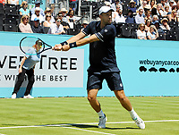 Tennis - 2018 Queen's Club Fever-Tree Championships - Day One, Monday<br /> <br /> Men's Singles, First Round : Denis Shapovalov (CAN) v Gilles Muller (LUX)<br /> <br /> Gilles Muller on Centre Court.<br /> <br /> COLORSPORT/ANDREW COWIE