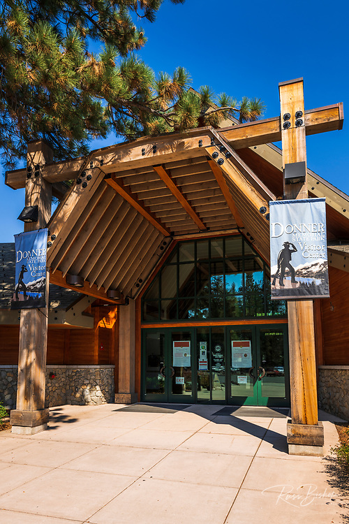 The visitor center at Donner Memorial State Park, Truckee, California USA