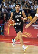 NANJING,CHINA:SEPTEMBER 5th 2019.FIBA World Cup Basketball 2019 Group phase match.Group F. New Zealand vs Greece.Point Guard,Shea ILI<br /> Photo by Jayne Russell / www.PhotoSport.nz