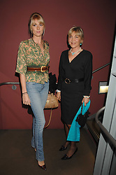 ROSIE, MARCHIONESS OF NORTHAMPTON and LADY EMILY COMPTON at a party to celebrate the publication of Nain Attallah's book'Fulfilment & Betrayal' held at The Bluebird, King's Road, London on 1st May 2007.<br />