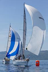 Silvers Marine Scottish Series 2017<br /> Tarbert Loch Fyne - Sailing<br /> <br /> GBR9740R, Sloop John T, Iain & Graham Thomson, CCC, Swan 40