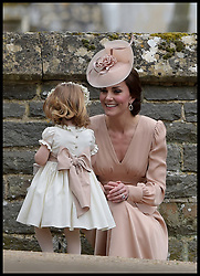 May 20, 2017 - London, London, United Kingdom - Image ©Licensed to i-Images Picture Agency. 20/05/2017. London, United Kingdom. Pippa Middleton wedding to James Matthews. ..HRH The Duchess of Cambridge with her daughter HRH Princess Charlotte of Cambridge at the wedding of her sister Pippa Middleton and James Matthews at St Mark's Church, Englefield, Berkshire, UK.  ..Picture by  i-Images / Pool (Credit Image: © i-Images via ZUMA Press)