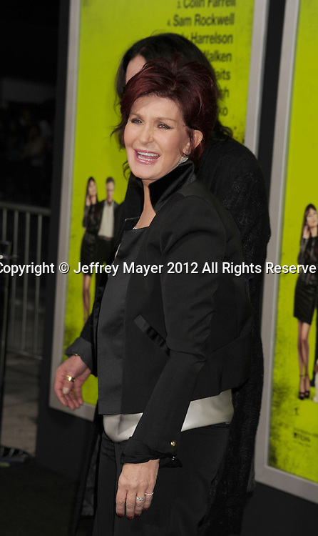 WESTWOOD, CA - OCTOBER 01: Ozzy Osbourne and Sharon Osbourne arrive at the Los Angeles premiere of 'Seven Psychopaths' at Mann Bruin Theatre on October 1, 2012 in Westwood, California.
