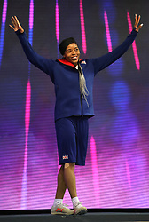 Great Britain's Abigail Irozuru ahead of the Women's Long Jump Finals during day three of the European Indoor Athletics Championships at the Emirates Arena, Glasgow.