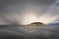 Storm Clouds over Deception Island, Deception Pass, Washington