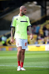 Nottingham Forest's Henri Lansbury  - Photo mandatory by-line: Nigel Pitts-Drake/JMP - Tel: Mobile: 07966 386802 25/08/2013 - SPORT - FOOTBALL -Vicarage Road Stadium - Watford -  Watford v Nottingham Forest - Sky Bet Championship