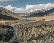 """Pamir mountains. Going over the Garumdee Pass (4895m). Guiding and photographing Paul Salopek while trekking with 2 donkeys across the """"Roof of the World"""", through the Afghan Pamir and Hindukush mountains, into Pakistan and the Karakoram mountains of the Greater Western Himalaya."""