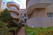 Israel Tel Aviv Old Bauhaus style building at 16 Bialik street Tel Aviv