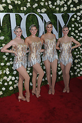 June 11, 2017 - New York, NY, USA - June 11, 2017  New York City..The Rockettes attending the 71st Annual Tony Awards arrivals on June 11, 2017 in New York City. (Credit Image: © Kristin Callahan/Ace Pictures via ZUMA Press)
