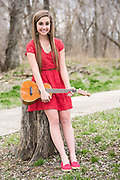 Lauren Michela-Rose Stevens, 18, a senior at Spencer County High School, photographed at the Taylorsville Lake Historic Interpretive Area, plays the ukulele and expects to attend Campbellsville University in the fall. Mar. 23, 2015