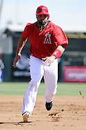 TEMPE, AZ - MARCH 06:  Albert Pujols #5 of the Los Angeles Angels of Anaheim runs the bases against the Chicago White Sox on March 6, 2012, 2012 at Tempe Diablo Stadium in Tempe, Arizona. The Angels defeated the White Sox 6-2.  (Photo by Ron Vesely)  Subject:  Albert Pujols