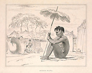 Boosh-wana [Tswana] man from the book Sketches representing the native tribes, animals, and scenery of southern Africa : from drawings made by the late Mr. Samuel Daniell. by Daniell, Samuel, 1775-1811; Daniell, William, 1769-1837; Barrow, John, Sir, 1764-1848; Somerville, William, 1771-1860; Printed by Richard and Arthur Taylor : Published by William Daniell, and William Wood, London, 1820