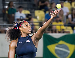 09.08.2016, Olympic Tennis Centre, Rio de Janeiro, BRA, Rio 2016, Olympische Sommerspiele, Tennis, Damen, Achtelfinale, im Bild Serena Williams (USA) // Serena Williams of the USA during Womens Tennis Tournament knockout stage match of the Rio 2016 Olympic Summer Games at the Olympic Tennis Centre in Rio de Janeiro, Brazil on 2016/08/09. EXPA Pictures © 2016, PhotoCredit: EXPA/ Johann Groder