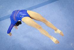 Sasa Golob of Slovenia competes in the Floor Exercise during Final day 2 of Artistic Gymnastics World Challenge Cup Ljubljana, on April 20, 2014 in Hala Tivoli, Ljubljana, Slovenia. (Photo by Matic Klansek Velej / Sportida.com)