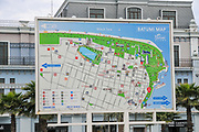 information board with Map of Batumi, Georgia