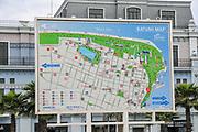 information board with Map of Batumi, Georgia