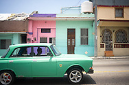 As well as old american cars, Cuba has a lot of old russian Ladas from the late 1970's. <br /> Marianao, Havana, Cuba
