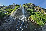 Waterfall along a cliff<br /> La Martre<br /> Quebec<br /> Canada