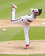 CHICAGO - JUNE 30:  Lucas Giolito #27 of the Chicago White Sox pitches against the Minnesota Twins on June 30, 2019 at Guaranteed Rate Field in Chicago, Illinois.  (Photo by Ron Vesely)  Subject:  Lucas Giolito
