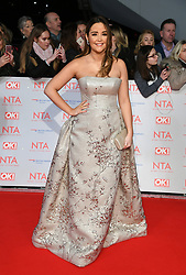 Jacqueline Jossa attending the National Television Awards 2018 held at the O2, London. Photo credit should read: Doug Peters/EMPICS Entertainment