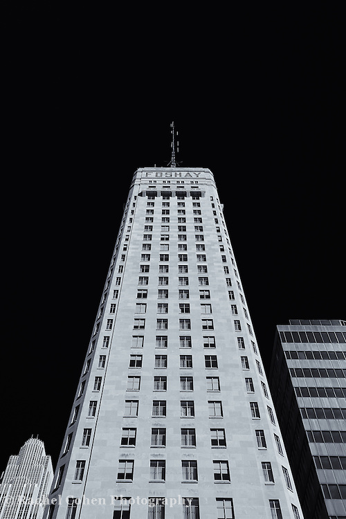 """""""Foshay Tower"""" mono<br /> <br /> The beautiful and historic Foshay Tower in downtown Minneapolis MN.<br /> <br /> Cities and Skyscrapers by Rachel Cohen"""