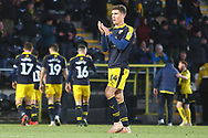 Oxford United's Josh Ruffels (14) applauds the Oxford fans after the final whistle during the EFL Sky Bet League 1 match between Burton Albion and Oxford United at the Pirelli Stadium, Burton upon Trent, England on 2 February 2019.