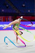 Sabina Tashkenbaeva during the qualifications  at the World Cup in Pesaro a in Vitrifrigo Arena on May 28/29, 2021. Sabina is an Uzbek rhythmic gymnastics born in Tashkent in 2000.