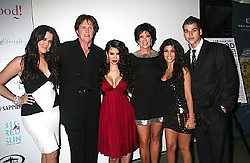Oct 09, 2007 - Hollywood, CA, USA - KHLOE KARDASHIAN, BRUCE JENNER, KIM KARDASHIAN, KRIS JENNER, KOURTNEY KARDASHIAN and family arrive for a party to view her new E! reality show at the Pacific Design Center in Hollywood, California (Credit Image: © Krista Kennell/ZUMA Press)