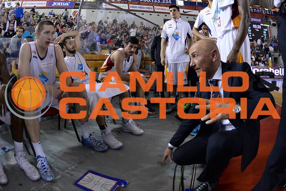 DESCRIZIONE : Roma  Lega A 2014-15 Acea Roma Enel Brindisi <br /> GIOCATORE : Dalmonte Luca <br /> CATEGORIA : Allenatore Coach Time Out<br /> SQUADRA : Acea Roma<br /> EVENTO : Campionato Lega A 2014-2015<br /> GARA :Acea Roma Enel Brindisi <br /> DATA : 19/04/2015<br /> SPORT : Pallacanestro<br /> AUTORE : Agenzia Ciamillo-Castoria/M.Longo<br /> Galleria : Lega Basket A 2014-2015<br /> Fotonotizia : Roma  Lega A 2014-15 Acea Roma Enel Brindisi <br /> Predefinita :