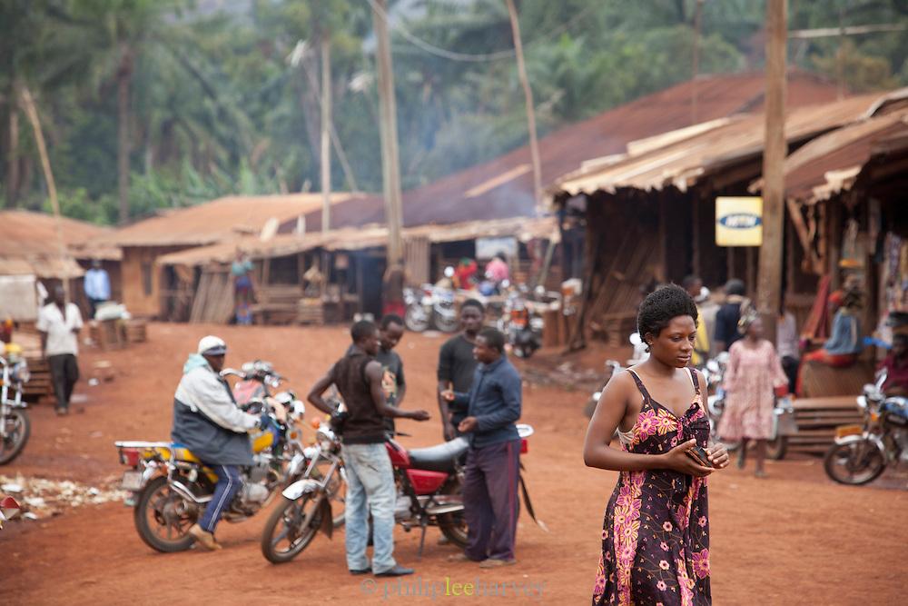 Street scene in Babungo, Cameroon