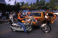 EEUU. Florida. Miami. <br /> Bikers at South Beach.<br /> <br /> ©JOAN COSTA