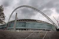 Photo: Daniel Hambury.<br /> Wembley Stadium. 14/06/2006.<br /> A general view of the new home of English football, Wembley, seen from near the site of the water feature.