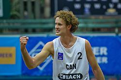07-01-2011 VOLLEYBAL: CEV SATELLITE INDOOR BEACHVOLLEYBALL: AALSMEER<br /> <br /> <br /> The first CEV Indoor beachvolleyball tournament / Chaim Schalk CAN<br /> <br /> ©2011-WWW.FOTOHOOGENDOORN.NL