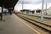 Train at Central Railway Station, Riga, Latvia