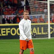 NLD/Amsterdam/20070908 - Kwalificatiewedstrijd EURO 2008, Nederland - Bulgarije, warming up Dirk Kuyt