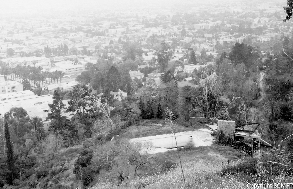 1973 The ruins of the swimming pool in Runyon Canyon