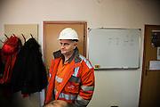 Arcelor Mittal. Omarska Mine near Prijedor.<br /> <br /> Name TK, worker interviewed at mine. <br /> <br /> Matt Lutton / Boreal Collective for the Financial Times.
