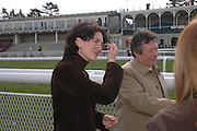 Mrs. John Nesbitt. Ludlow Charity Race Day,  in aid of Action Medical Research. Ludlow racecourse. 24 march 2005. ONE TIME USE ONLY - DO NOT ARCHIVE  © Copyright Photograph by Dafydd Jones 66 Stockwell Park Rd. London SW9 0DA Tel 020 7733 0108 www.dafjones.com