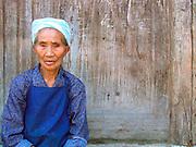 Old woman near Duyun, Guizhou Province, China.