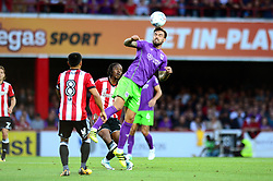 Marlon Pack of Bristol City challenges for a header - Mandatory by-line: Dougie Allward/JMP - 15/08/2017 - FOOTBALL - Griffin Park - Brentford, England - Brentford v Bristol City - Sky Bet Championship