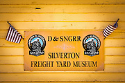 Durango & Silverton Narrow Gauge Railroad Freight Yard Museum, Silverton, Colorado USA