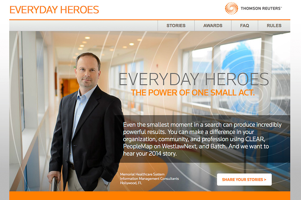 Thomson Reuters Everyday Heroes Story at the Memorial Healthcare System in Hollywood Florida