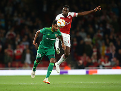 September 20, 2018 - London, England, United Kingdom - L-R Artur of FC Vorskla Poltava and Arsenal's Danny Welbeck.during UAFA Europa League Group E between Arsenal and FC Vorskla Poltava at Emirates stadium , London, England on 20 Sept 2018. (Credit Image: © Action Foto Sport/NurPhoto/ZUMA Press)