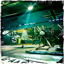 The National Museum of Flight at East Fortune Airfield, East Lothian. Images shot with Hipstamatic for iPhone.<br /> The National Museum of Flight is Scotland's national aviation museum at East Fortune Airfield, just south of the village of East Fortune. The museum is housed in the original wartime buildings of RAF East Fortune which comprises one of the best preserved wartime airfields in the UK.