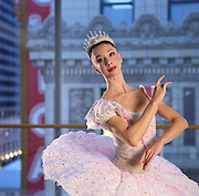 Joffrey Ballet's April Daly on Wednesday, Nov. 13, 2013 in her Sugar Plum Fairy costume. (Brian Cassella/Chicago Tribune) B583327672Z.1 <br /> ....OUTSIDE TRIBUNE CO.- NO MAGS,  NO SALES, NO INTERNET, NO TV, CHICAGO OUT, NO DIGITAL MANIPULATION...