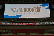 Funds being raised tonight for the Wayne Rooney Foundation during the international Friendly match between England and USA at Wembley Stadium, London, England on 15 November 2018.
