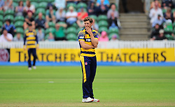 Craig Meschede of Glamorgan reacts to a chance.  - Mandatory by-line: Alex Davidson/JMP - 24/07/2016 - CRICKET - Cooper Associates County Ground - Taunton, United Kingdom - Somerset v Glamorgan - Royal London One Day